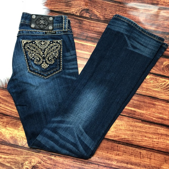 Miss Me Denim - Miss Me Embroidered Boot Cut Jeans